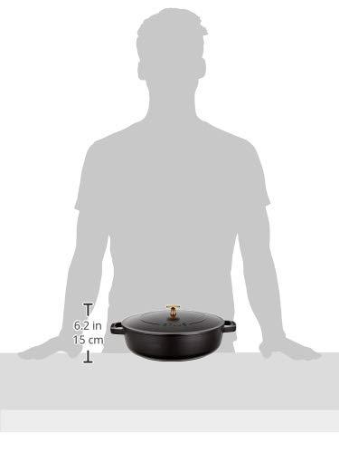 staub ストウブ 「 ブレイザー ソテーパン ブラック 26cm 」 大きい 両手 鋳物 ホーロー 鍋 すき焼き IH対応 【日本正規販売品】 Braiser 40506-542