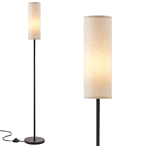 Floor Lamp for Living Room Modern - Pole Lamps for Bedrooms Tall, Ambimall Modern Standing Lamps with Lampshade, 65'' Tall Lamp for Office, Kids Room,...