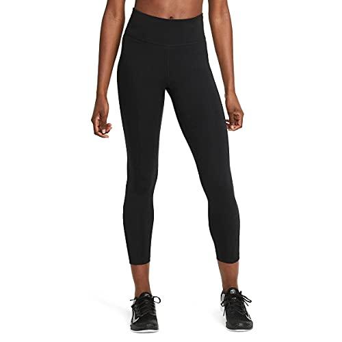 NIKE The One Leggings, Black/White, XL Women's