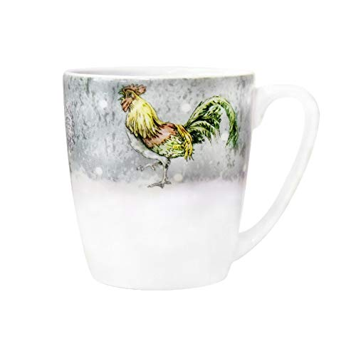 Churchill China Barnyard Bellota - Taza, diseño de gallo