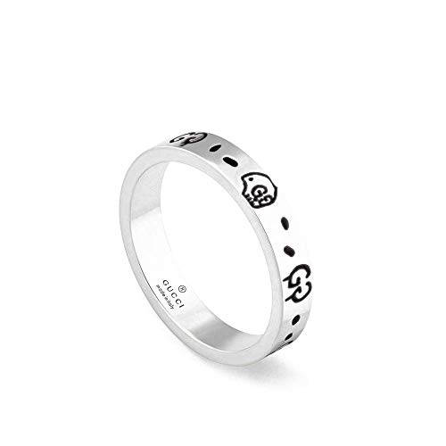Gucci spook zilveren ring 7 3/4 (ons)-p (uk) ybc477339001017