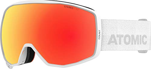 ATOMIC Unisex Adult Count Stereo Skibrillen, Weiß, NS EU