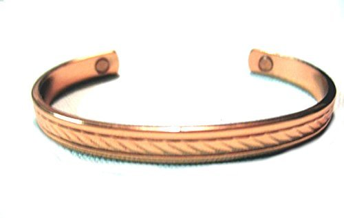 Solid Thick Copper Bracelet Powerful Magnets in Cuff Bangle Style for Men or Women by Roger Enterprises