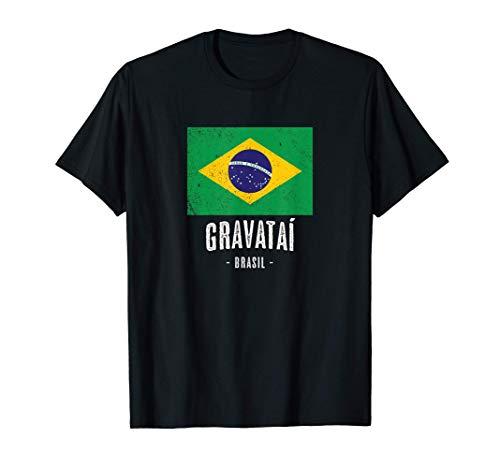 Stadt von Gravataí - Brasilien   BR Brasilianische Flagge - T-Shirt