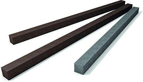 Vierkant Profile aus dem Recycling-Kunststoff hanit, 200cm x 7cm x 7cm, braun, zum Bau von Zäunen, Terrassen-Unterkonstruktionen u.v.m. (1)