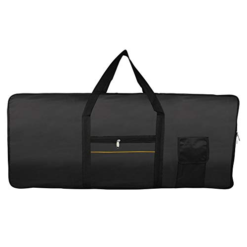 Piano Keyboard Cover, Stretchable Oxford Cloth Dust Cover for 61 Keys Electronic Keyboard, Digital Piano Yamaha Casio Roland Consoles and more Black