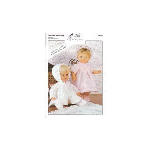 "12 m DK Vintage Knitting Pattern Baby Girl Dress Matinee Coat 16-20/"" Newborn"