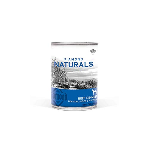 Diamond Naturals Real Meat Recipe Premium Canned Wet Pate Dog Food with Protein from Real Beef, and Superfoods for Supporting Overall Health in Adult Dogs and Puppies 13.2oz, Case of 12