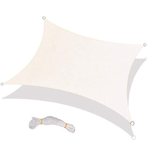 XISENOCI Tenda da Sole a Vela da 8 piedi x 8 piedi impermeabile, tenda da giardino rettangolare con tenda da Sole per Patio e giardino all'aperto