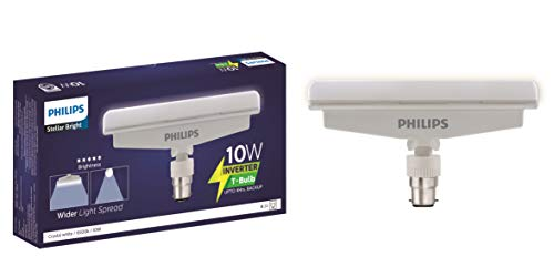 PHILIPS 10-Watts B22 Inverter Rechargeable LED T-Bulb - Cool Day Light (White, Pack of 1) (TEm10w_Pk of 1)