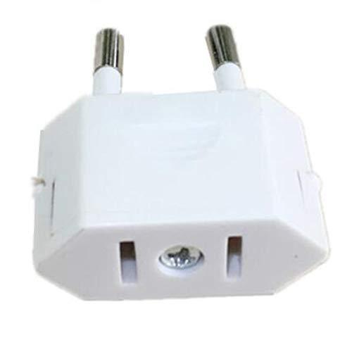 MEICHEN Nuovo CN US Ad Europa Euro Europa Plug Adapter 2 Round Socket Converter Viaggi Presa di Corrente elettrica Adattatore China To EU Plug,White