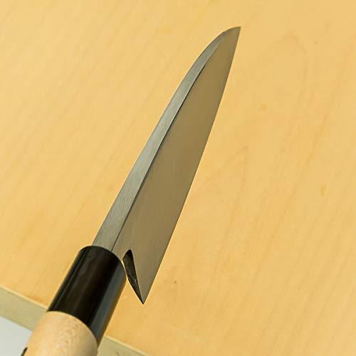 HONMAMON Deba Hocho (Kitchen Knife) 135mm(ABT 5.3 Inch) for Left Hander, Blade Edge : Ginsan Stainless Steel