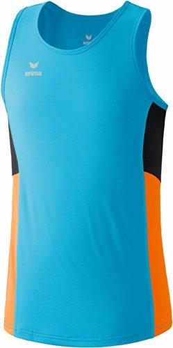 erima Tank Top Premium One Running Singlet - Camiseta de Running para Hombre, Color Azul, Talla M