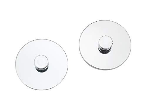 WENKO Turbo-Loc® Adapter Uno Chrom 2er - 2er, Befestigen ohne bohren, Kunststoff (ABS), 6 x 6 cm, Chrom