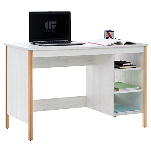 COMIFORT Escritorio Ordenador - Mesa Escritorio con 3 Huecos Abiertos para Almacenamiento, Diseñado...
