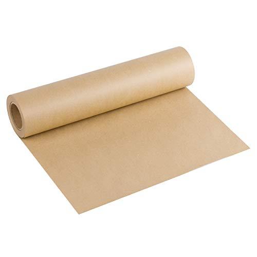 RUSPEPA Braun Kraftpapier - Natürliches Recyclingpapier, Kraftpapierrolle Ideal für Kunsthandwerk, Kunst, Kleine Geschenkverpackungen, Verpackung, Post, Versand und Pakete - 38.1 cm x 30 m