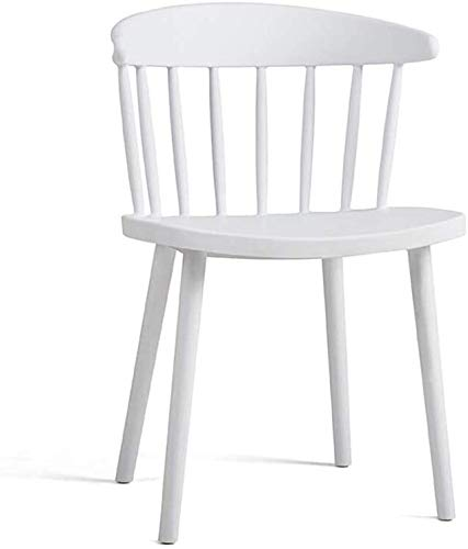LMDC Stuhl Sleek Minimalist Cafe Restaurant Gelegenheits Stuhl Empfang Stuhl Windsor-Stuhl Plastikstuhl, Stuhl Heim Dining Chair (Color : White)