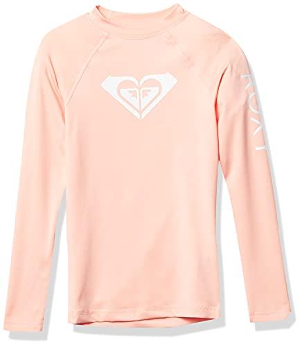Roxy Whole Hearted Short Sleeve Rashguard Camisa de proteccin de Sarpullido, Perla de melocotón, 44 para Niñas