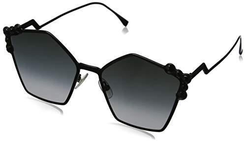 FENDI FF 0261/S 9O 2O5 Gafas de sol, Negro (Black/Grey), 57 para Mujer