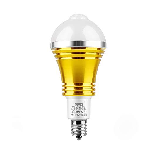 CLY LED電球 人感センサーライト E17口金直径17mm センサー電球 防犯ライト 電球色2700K 光明暗センサー LED 電球 赤外線センサー PIR動体感知点灯 自動消灯 省エネ 7W 60W形相当 1個セット