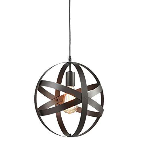 Fer [lustre] lustre rond simple/lampes nordiques à vent industriel rétro