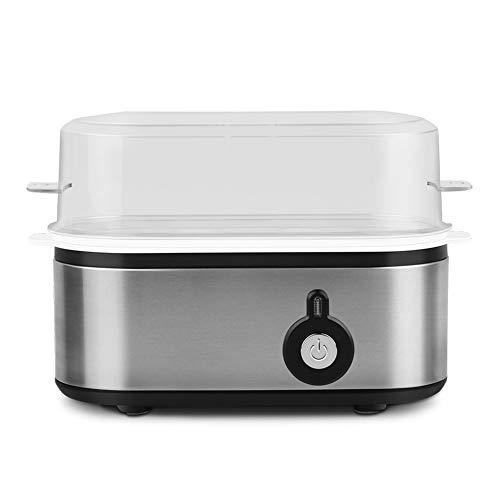 ZEL Cuiseur à œufs Multifonction, Acier Inoxydable de Haute qualité, Chauffage Uniforme à 360 °, Fonctionnement à Une Touche avec Fonction d'arrêt Automatique, adapté aux légumes et Fruits de mer