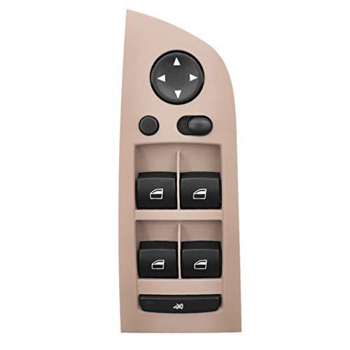Botonera elevalunas Frente ventana de energía de conducción izquierda interruptor de botón de la consola Panel de ajuste for el BMW Serie 3 E90 E91 318i 320i 325i 335i 2004-2013 61319217334
