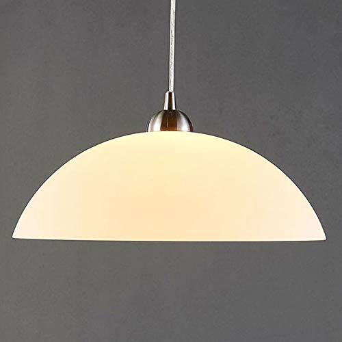 Lampada a sospensione 'Valeria' (Moderno) colore Bianco, in Vetro ad es. Cucina (1 luce, E27, A++) di Lindby | lampada a sospensione in vetro, lampada a sospensione, lampada a sospensione per tavolo