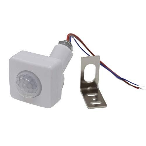 CPGS 小型 人感センサー スイッチ 赤外線 PIRセンサー 白 AC100V 消費電力100W L型金具 日本語説明書付き