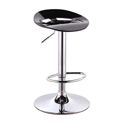 NMDCDH Taburete de Bar, Taburete Alto de plástico para Bar Rotación de Barra de café Respaldo Alto Woody Creativo Alto Mostrador de Cocina Silla de Cocina Europea Alto 56~76cm Se Puede Girar, sim