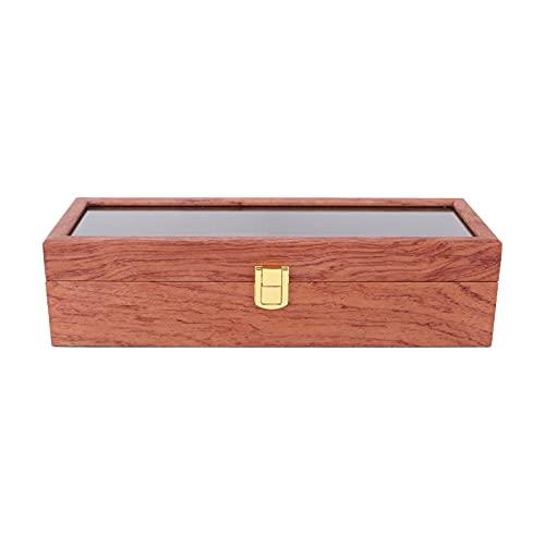 Organizador de exhibición de reloj, caja de reloj exquisita de moda grande de 6 ranuras duradera para almacenar joyas para caja de reloj