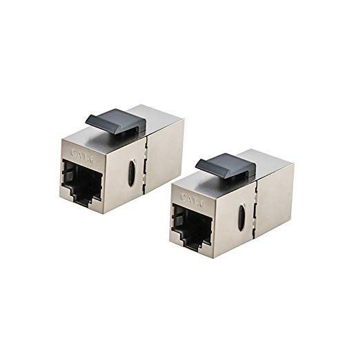 Occus - Cables RJ45 Cat.6 Inline Coupler Female Shielded Adapter for...