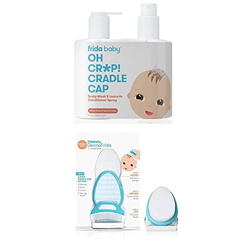 The 3-Step Cradle Cap System with Scalp Spray + Scalp Mask by Fridababy