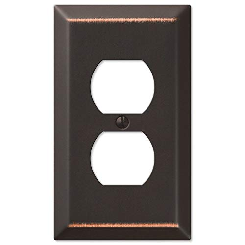 Traditional Design Single Duplex Outlet Receptacle Wall Switch Plate, Oil Rubbed Bronze