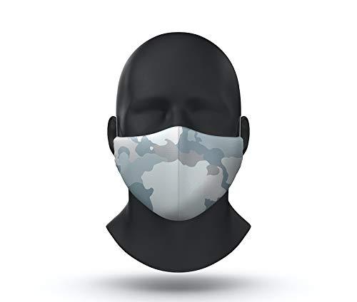 blue camo facemask