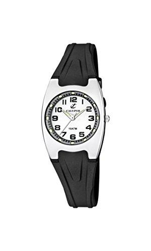 Calypso Reloj Unisex de Cuarzo con Blanco Esfera analógica Pantalla y Correa de plástico en Color Negro K6042/F