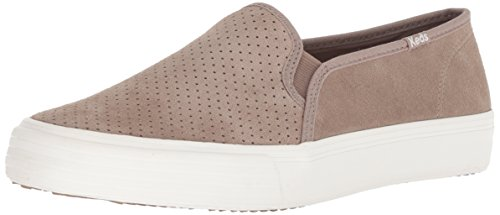Keds Women's Double Decker Suede Sneaker, Taupe, 7.5
