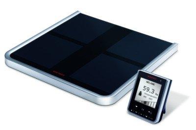 Soehnle Körperanalysewaage Body Balance Comfort Select zur genausten Wertermittlung, Waage mit Anzeige der letzten 90 Tage, Personenwaage mit Software-CD