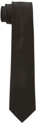 Seidensticker Krawatte 7cm breit einfarbig unifarben modern, Schwarz (38 uni anthra), One Size