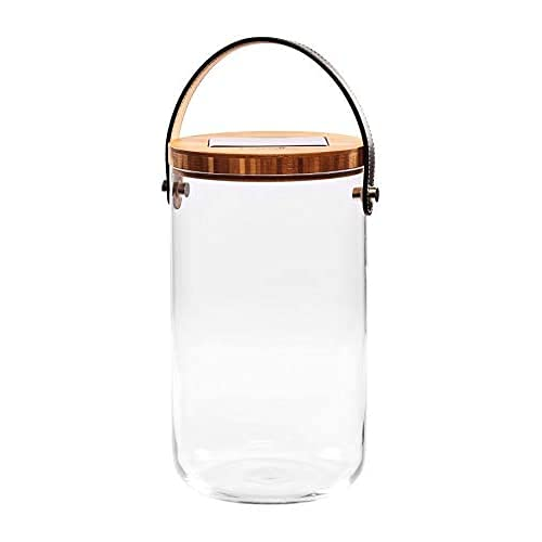 Krinner Deco Glass Long 22510 Dekoleuchte LED Klar, Bambus, Schwarz, Warmweiß