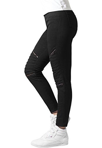 Urban Classics Ladies Stretch Biker Pants Pantalones, Negro (Black 7), 27 W para Mujer