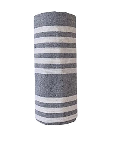 Biancheria Store Sofaüberwurf in 2 Größen – hergestellt in Italien Gran Foulard Mehrzweck-Überwurf für Sofa, Sesselüberwurf, 260 x 280 cm, grau