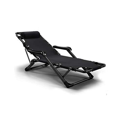 Metall Sonnenliege Gartenliege,Liegestuhl Klappbar Relaxliege Relaxsessel Garten Liege Schaukelliege Balkonliege Liegestühle Camping Stuhl Sonnenliege Hoch Saunaliege, Blau L100FP (Color : Black)