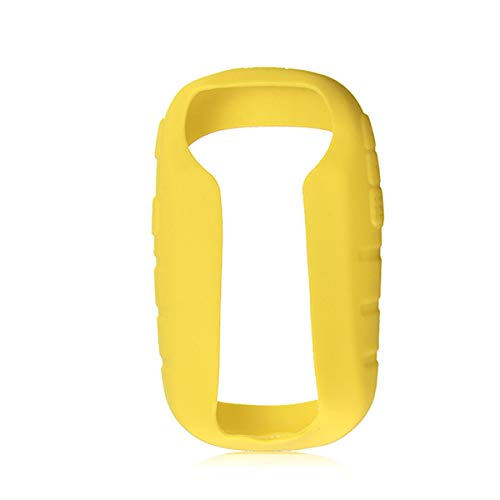 TENGGO Silicona Protección Funda + Protector De Pantalla para Garmin Etrex 10 20 30 10 X 20 X 30 X-Amarillo