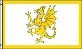 AZ FLAG Flagge Goldener Drache VON Wales 150x90cm - WALISISCHE Fahne 90 x 150 cm - flaggen Top Qualität