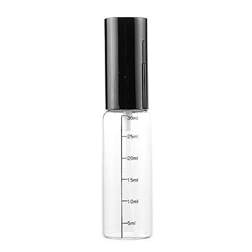 jingxiaopu Botella Spray Botella Spray Pulverizador PortáTil Botellitas De Cristal PequeñAs A Prueba De Fugas Botes De Cristal para Perfume Recargable para LíQuida Perfume Black