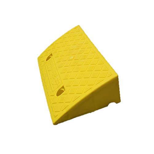Gelbes Kunststoff-Slope-Pad, rutschfeste Spannungsfestigkeit Fahrzeugrampen Bordsteinrampen Schwellrampen Rampen Rampen (Size : 50 * 27 * 7CM)