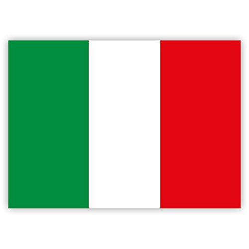 10 x Aufkleber Italien-Flagge, 7,4 x 5,2 cm für innen und außen