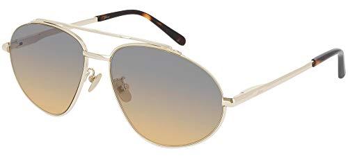 Brioni Gafas de Sol BR0073S Gold/Grey Shaded 59/16/145 hombre