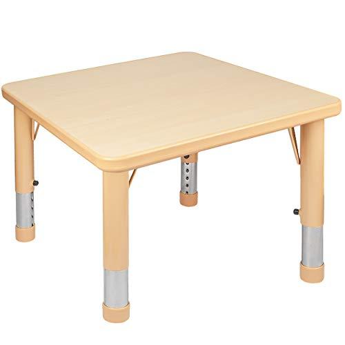 alles-meine.de GmbH Kindertisch / Tisch - höhenverstellbar - Größen & Farbwahl - 1 bis 8 Jahre - Holzfarben - Holz - Plastik - für INNEN & AUßEN - Kindermöbel - für Kinder - Mädc..